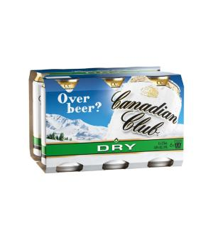 Canadian Club Dry Cans 6pk