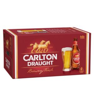 Carlton Draught Stubbies Case 24