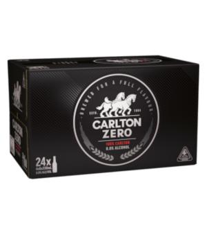 Carlton Zero Stubbies Case 24