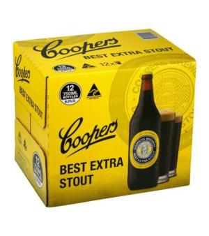 Coopers Best Extra Stout Longneck Case 12