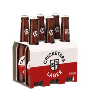 Cricketers Lager Stubbies 6pk