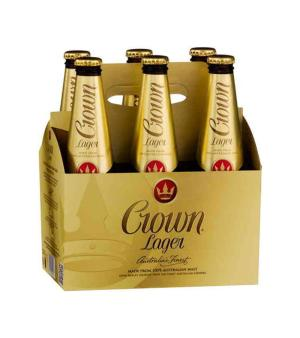 Crown Lager Stubbies 6pk