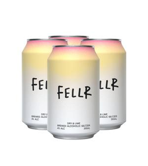 Fellr Seltzer Dry and Lime 4pk 330ml Cans