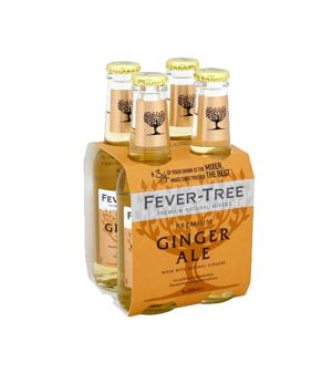 Fever Tree Premium Ginger Ale 200ml 4pk