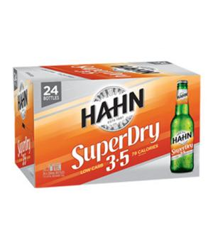 Hahn SuperDry 3.5% Stubbies Case 24