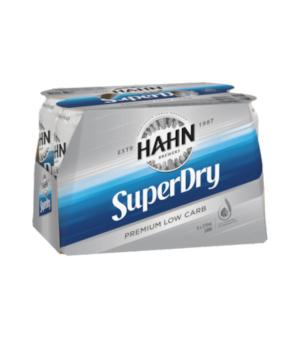 Hahn SuperDry Cans 6pk