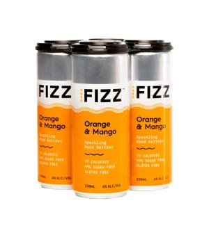 Hard Fizz Orange & Mango Seltzer 4pk Cans