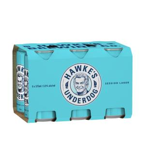 Hawkes Underdog Session Lager Can 6pk