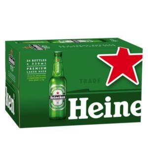 Heineken Lager Stubbies Case 24