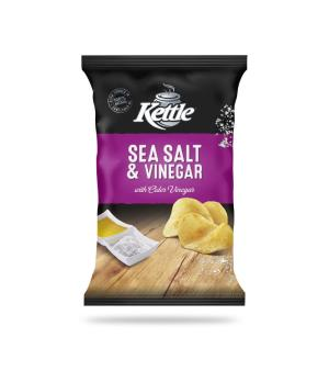Kettle Sea Salt & Vinegar Chips 90g