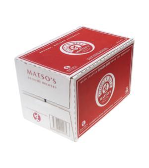 Matso's Ginger Beer Stubbies Case 24