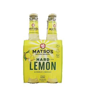 Matso's Hard Lemon Alcoholic Lemonade Stubbies 4pk