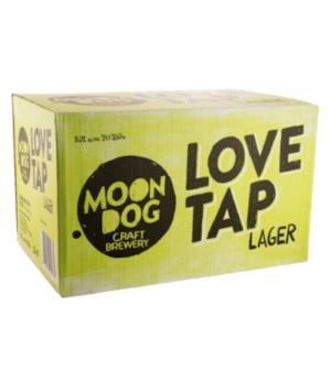 Moon Dog Love Tap Lager Stubbies Case 24