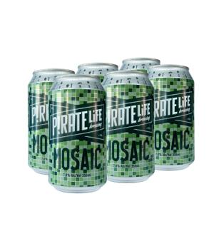 Pirate Life Mosaic Can 6pk