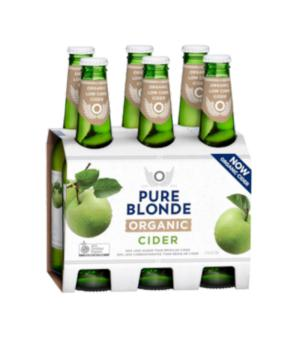 Pure Blonde Organic Apple Cider Stubbies 6pk