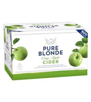 Pure Blonde Organic Apple Cider Stubbies Case 24