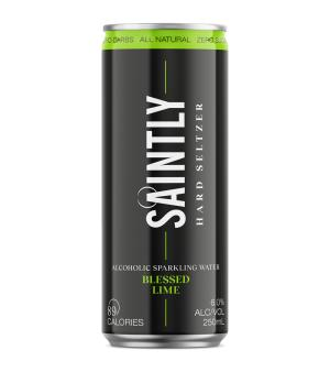 Saintly Blessed Lime Seltzer 24pk Cans