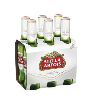 Stella Artois Beer Stubbies 6pk