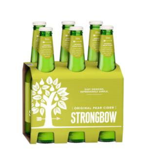 Strongbow Pear Cider Stubbies 6pk