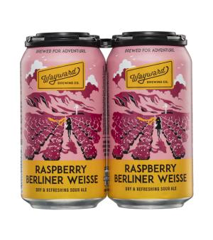 Wayward Brewing Co. Raspberry Berliner Weisse Sour Ale 4 pack
