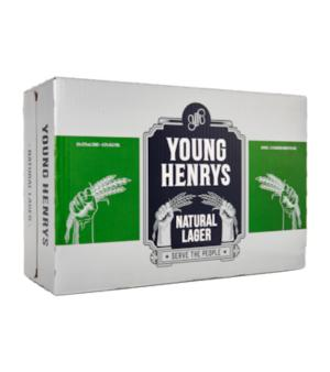Young Henrys Natural Lager Can Case 24